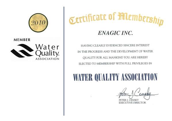 Zertifikat Wasserqualität